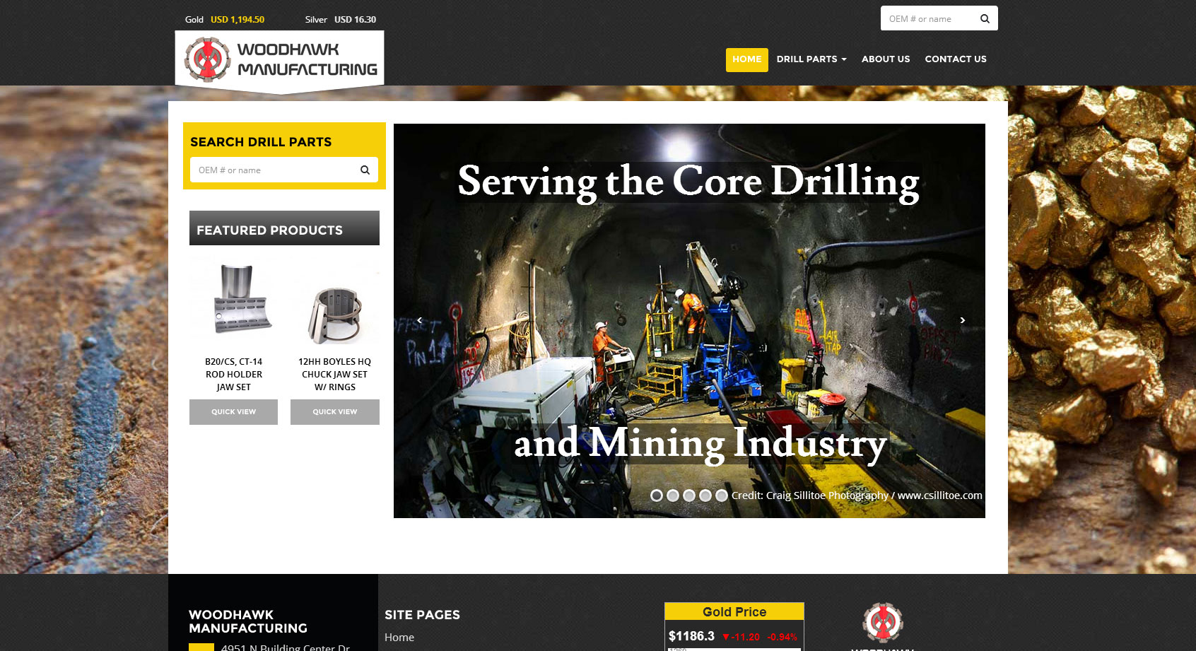 Woodhawk Manufacturing Webpage