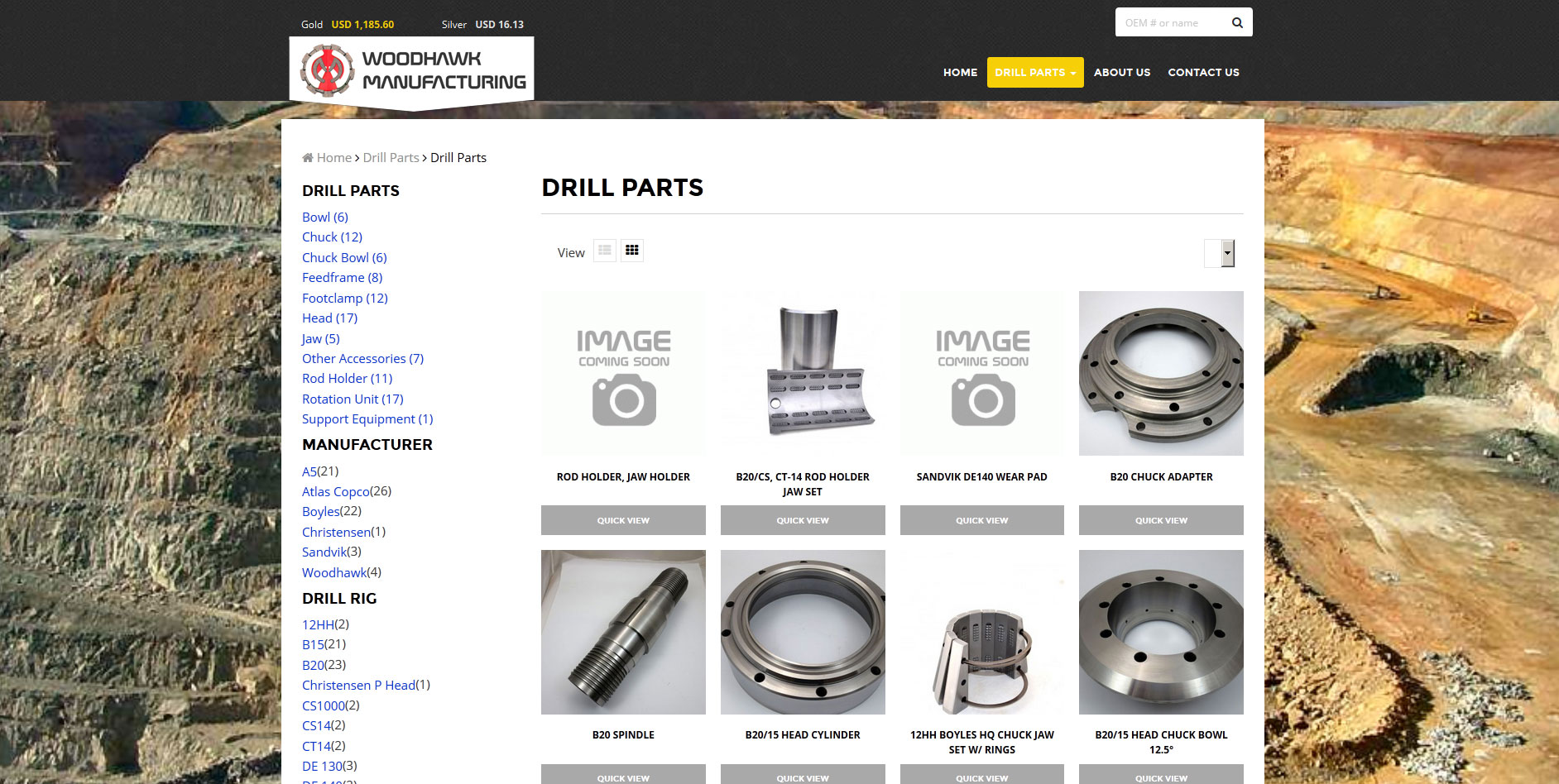 Woodhawk Manufacturing Website Design