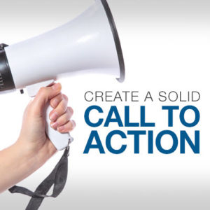 create a solid call to action