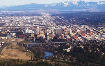 View of Downtown Spokane WA