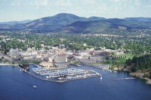 arial view of coeur d'alene idaho