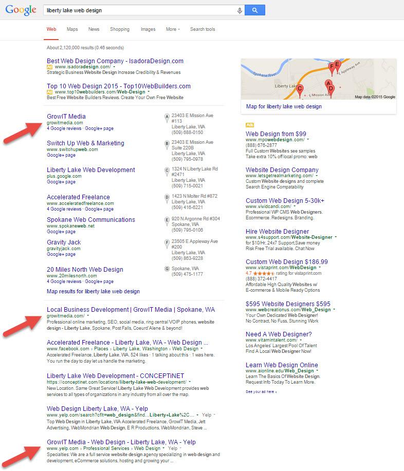 Liberty Lake Web Design Search Results
