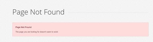 basic 404 error page design