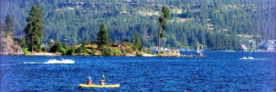 coeur d alene lake in the summer